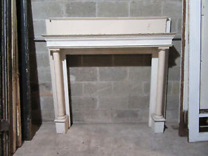 ~ SIMPLE ANTIQUE FIREPLACE MANTEL ~ 60 X 56 42 OPENING ~ ARCHITECTURAL SALVAGE