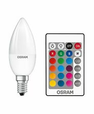 5w Osram LED STAR Colour changing Candle light bulb RGBW Remote Control Dimmable