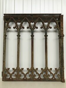 SUPER SALE!!! Exceptional French Gothic Cast Iron Fence/Gate circa 1880