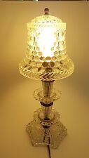 """Vintage Antique Clear Glass Vanity Small Lamp 14""""x6"""""""