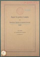 RAPPORT DE LA COMMISSION DU COMMERCE DES VINS - ZURICH 1946 / 1947 - VITICULTURE