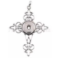 Fits Ginger Snap Cross Pendant GINGER SNAPS Necklace 18mm Button Charm Jewelry