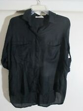 Bella Dahl  button down shirt tail black size XS