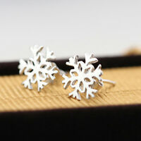 Hot Chic Fashion Sliver Plated Snowflake Earrings Ear Studs
