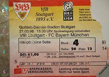 TICKET 1997/98 VfB Stuttgart - Bayern München