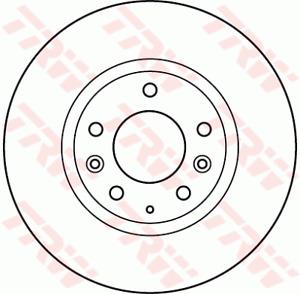TRW Brake Rotor Front DF4958S fits Mazda CX-9 3.7 (TB), 3.7 AWD (TB)