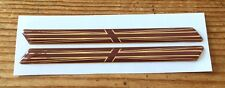 SLIMLINE GOLD & BROWN UNION JACK FLAGS - HIGH GLOSS DOMED GEL Stickers/Decals UK