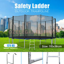3 Steps Trampoline Safety Ladder 12-16ft Trampoline Silver Colour Size 110x36cm