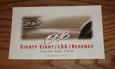 1998 Oldsmobile Eighty Eight LSS Regency Interior Exterior Color & Trim Brochure