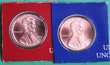 2007 P and D Lincoln Cent 2 Coin from US Mint UNC Blister PK One Cent Penny Set