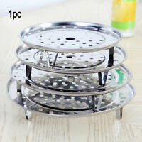 Stainless Steel Steamer Rack Insert Stock Pot Steaming Tray Stand Cookware Tool