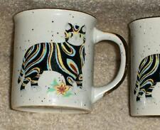 stylized cat coffee mugs cups , set of 2