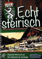 Steirische Harmonika Noten : Echt Steirisch - Volksmusik - GRIFFSCHRIFT - m. CD