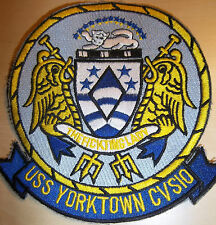 USS YORKTOWN CVS 10, AIRCRAFT CARRIER, EMBROIDERED PATCH, FREE UK POSTAGE