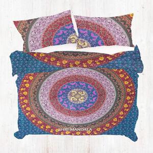 Multicolor Mandala Duvet Donna Cover Twin Extra Long Boho Bedding Quilt Cover
