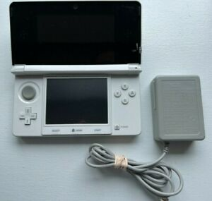 Nintendo 3DS Console - Pure White - Japanese Import - Very Good - US Seller