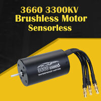 3660 2600/3300KV Sensorless Brushless Waterproof Motor 3.175mm For 1/8 RC Car