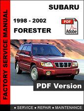 SUBARU FORESTER 1998 - 2002 FACTORY OEM SERVICE REPAIR WORKSHOP SHOP FSM MANUAL