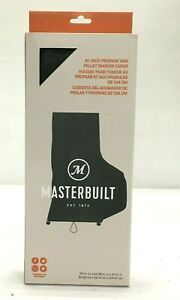 "Masterbuilt Smoker Cover MB20080419, 41"" Propane/Pellet Smoker Cover, Black"