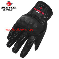 Scoyco MC12 Full Finger Carbon Safety Motorcycle Cycling Protective Gloves
