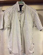 Men's Wrangler Short Sleeve Plaid Button Down Shirt Size M