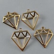37pcs Gold Plated Alloy Hollow Triangle Shape Charms Pendant Jewelry Making