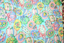 LARGE, COLORFUL EASTER EGGS - 100% COTTON FABRIC