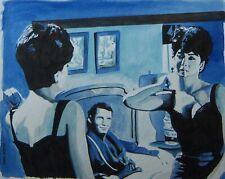 Original art - RAGE TO LIVE - 2005 film noir, pulp illustration - femme fatale