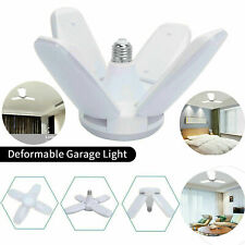 E27 LED Garage Light Bulb Foldable Ceiling Fixture Shop Basement Deformable Lamp
