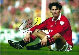 12x8 Inch  30x20cm PHOTO HAND SIGNED RYAN GIGGS MANCHESTER UNITED (1)
