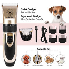 Professional Pet Dog Cat Grooming Shaver Clippers Cordless Hair Trimmer Tool