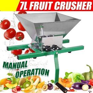 Fruit and Apple Crusher 7L Manual Juicer Grinder Portable Fruit Scratter Pulpe