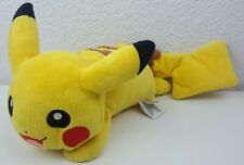 Pokemon Pikachu TOMY Beanbag Plush Laying Down with Grips Bottom 2014 7 1/2'' in