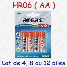 """Piles Rechargeables Accus AA LR06 - dispo aussi en version Alcaline """" jetable """""""