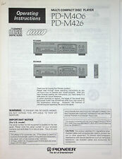 Pioneer PD-M406 / M426 Multi Compact Disc Player Manual