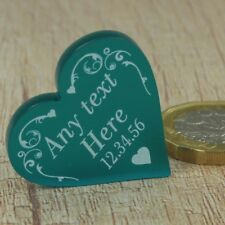 Personalised Wedding Favours Table Decorations Mr & Mrs Love Heart 3CM Confetti