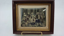 Miniature French? Woven Silk Jaquard Material Picture