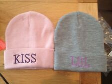 Beanies x 2 pack child 8 to 14 new in bag freepost one size  one pink 1 grey