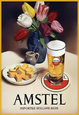 Amstel Holland Beer  Ad  Colourful  Poster Print