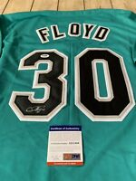 Cliff Floyd Autographed/Signed Jersey PSA/DNA COA Florida Marlins