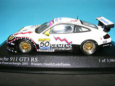 Porsche 911 GT3 RS in white and sponsors decals  Minichamps 1:43rd .scale