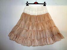 """Beige / Coffee Rock & Roll 1950s Style Dance Petticoat 25""""L"""