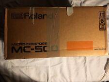 roland mc 500 vintage sequencer with original box