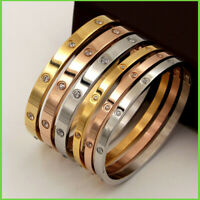 Titanium Steel Love Bracelets silver rose gold bracelet Bangles Women Men Screw