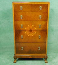 Walnut Queen Anne 20th Century Antique Chests of Drawers