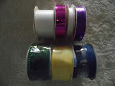Lot of 7 Different Colored and Types of Ribbon (R-69)