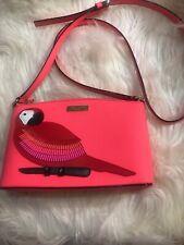 Kate Spade Talk the Talk Parrot Millie Leather Applique Purse Handbag Pre-Owned