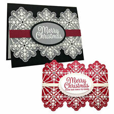 Merry Christmas Metal Cutting Dies Stencil Diy Foil Plate Paper Cards Crafts