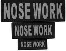 NOSE WORK  Patch Reflective Extra Label Tag for Dog Harness Service
