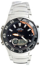 Casio AMW-710D-1A Men's Marine Gear Watch Steel Moon and Tide Graph Ana Digl New